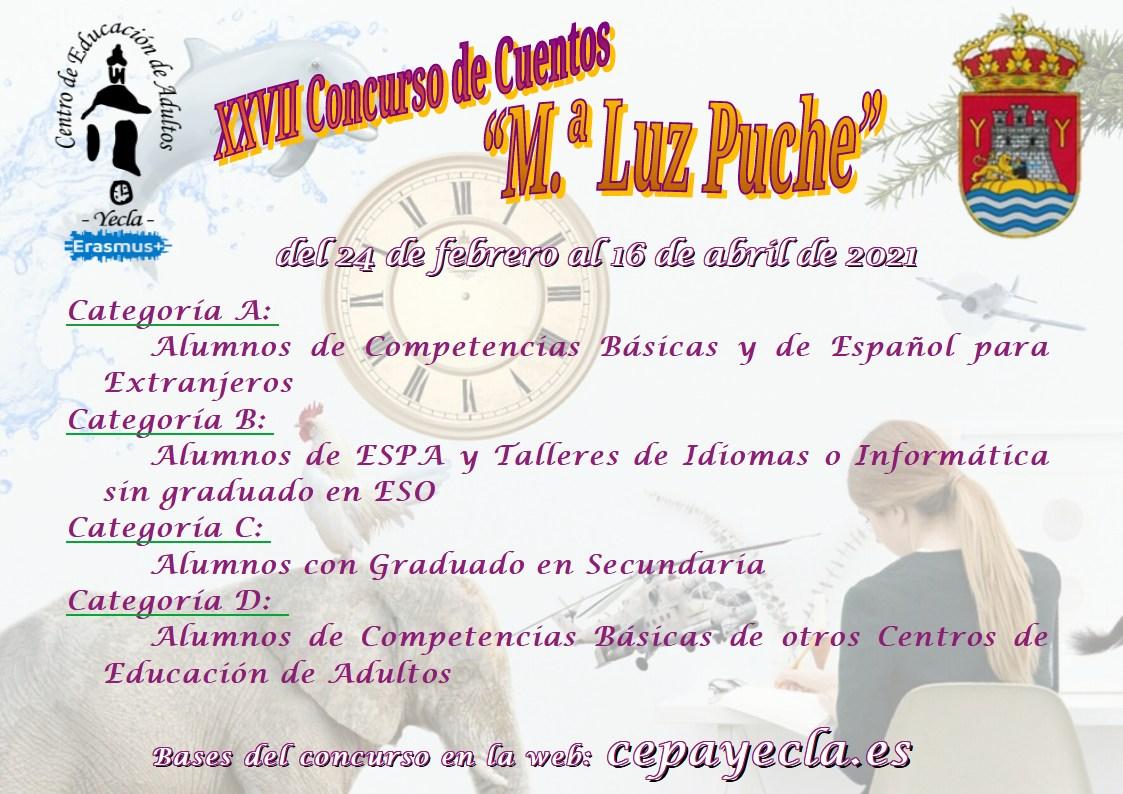 XXVII Concurso de cuentos - Mº Luz Puche